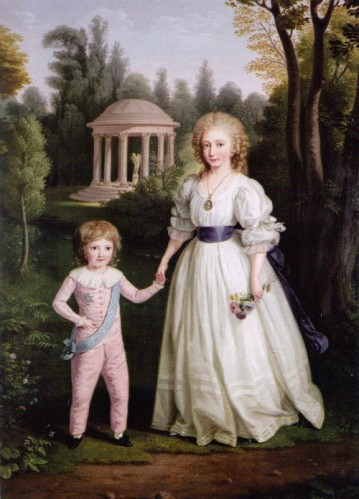 Marie Therese and Louis Charles by Ludwig Guttenbrunn