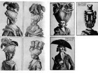 Les coiffures folles  et chapeaux  fous du XVIII em