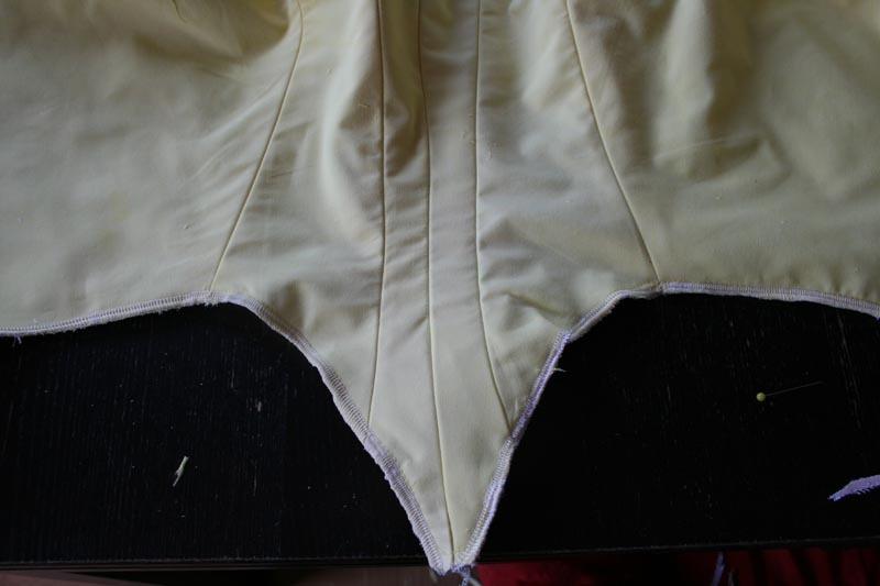 tuto: robe anglaise retroussée à la polonaise partie VIII