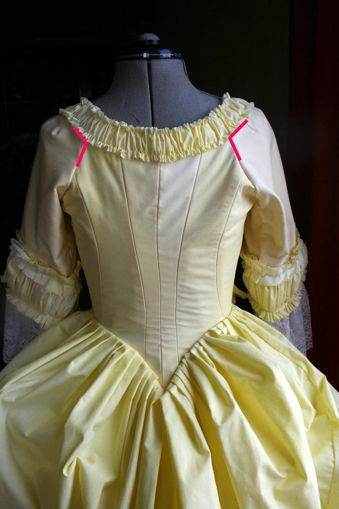 Tuto: Robe anglaise retroussée à la polonaise partie XIII : montage des manches