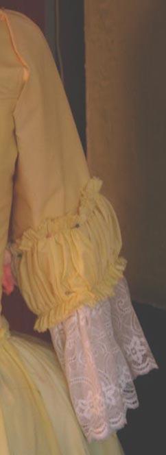tuto: robe anglaise retroussée à la polonaise partie X (les manches)