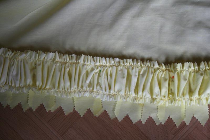 Tuto: Robe anglaise retroussée à la polonaise partie XI ( la traîne)