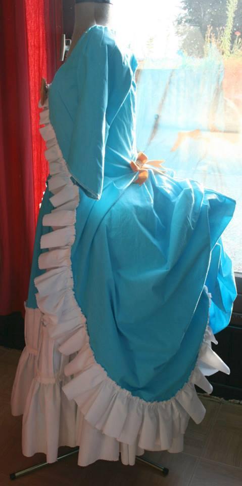Projet: Robe polonaise française18eme : le retroussé