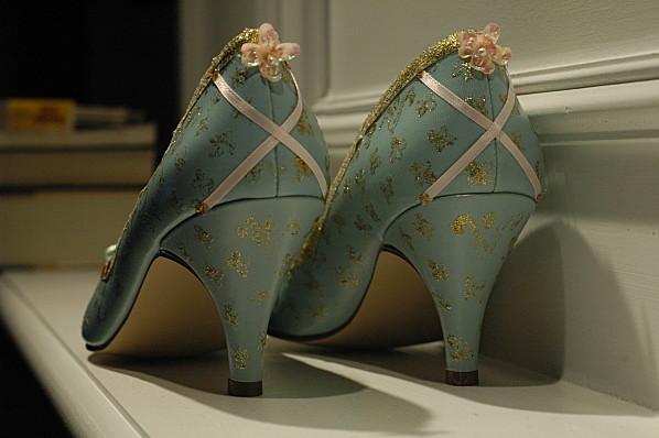 Des chaussures façon XVIIIem et du custom
