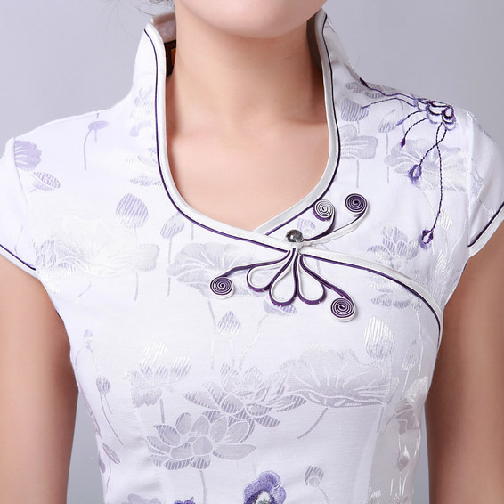 Patron robe col chinois