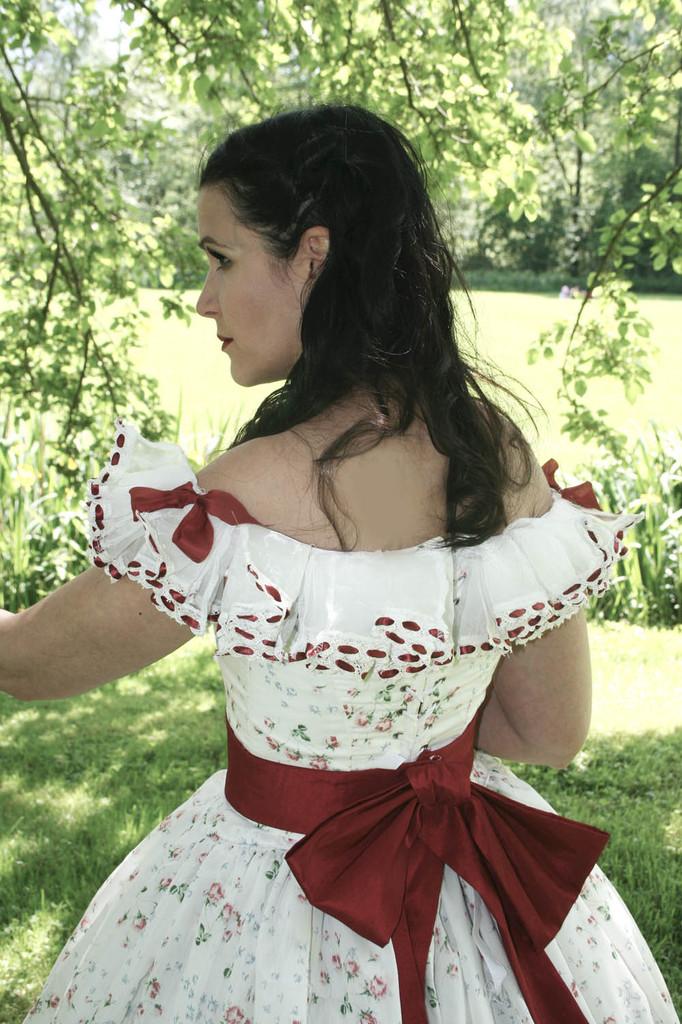 La robe de scarlett O'hara le shooting  !
