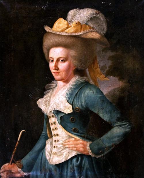portrait d'une jeune lady peintre inconnu 1780