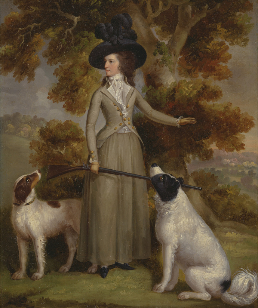 The Countess of Effingham with Gun and Shooting Dogs George Haugh
