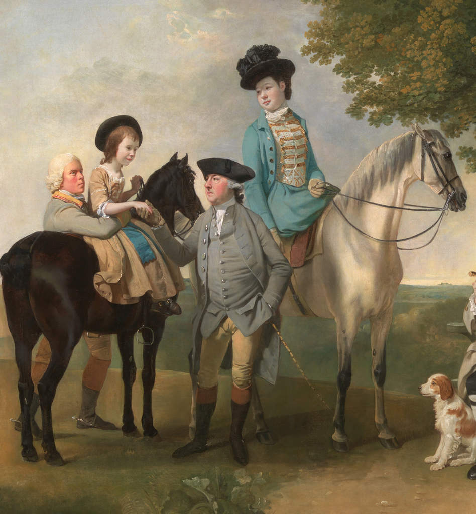détail:The Drummond Family Johan Joseph Zoffany 1769