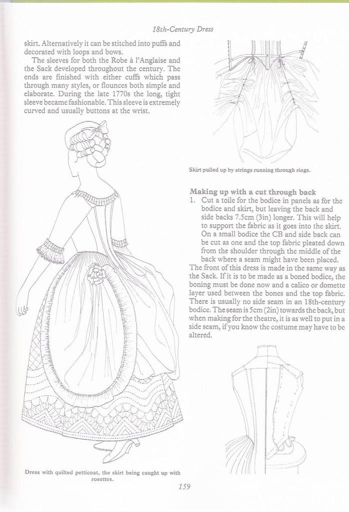 tuto:Robe anglaise retroussée  à la polonaise: partie XIV: le retroussé