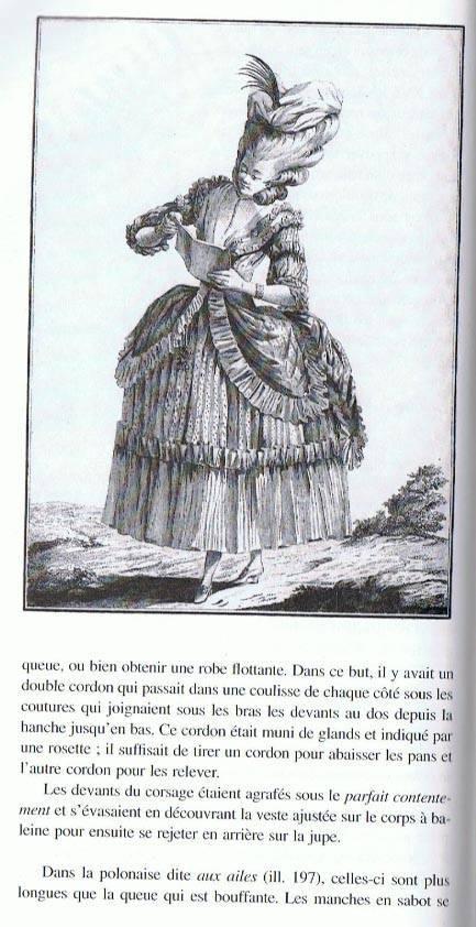 Projet: Robe XVIIIe Polonaise française:le patron