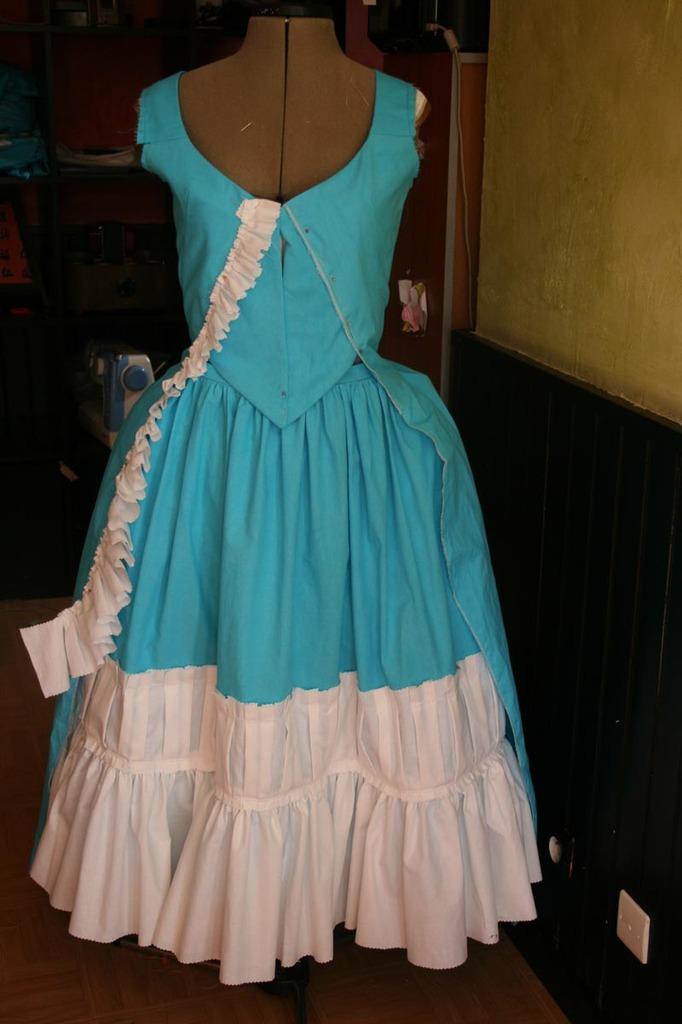 projet: Robe polonaise française 18eme: la décoration partie 2