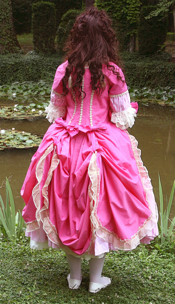 Robe circassienne rose fushia (candy)1780