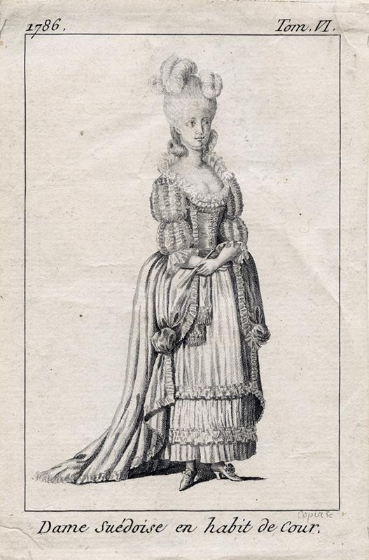 Dame Suédoise en habit de Cour 1786