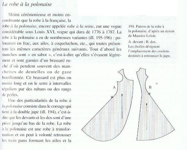 Robe française polonaise retroussée 1780(en cours)