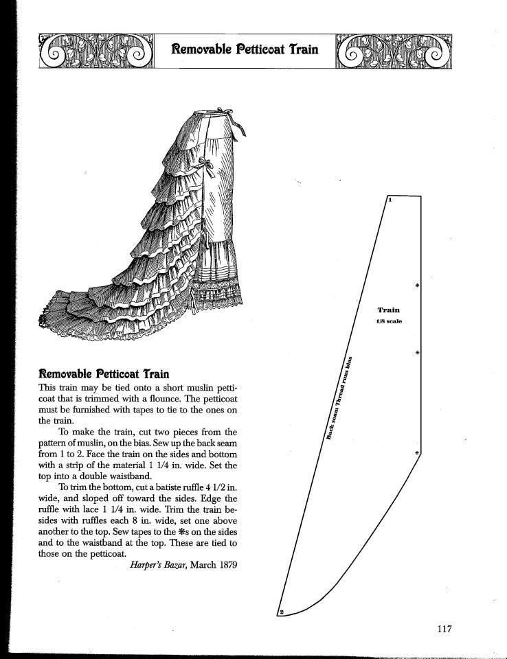 projet: natural form 1879/1880: la traîne