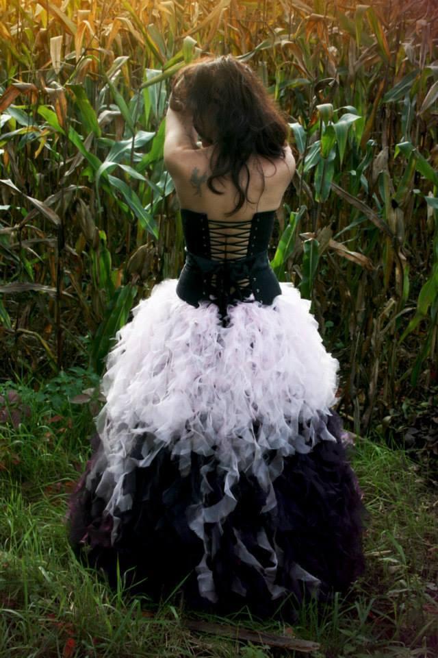 Shooting : la robe skyfall