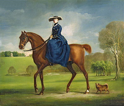 The Countess of Coningsby in the Costume of the Charlton Hunt, c.1760/61 George Stubbs