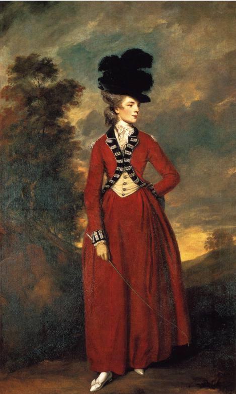 Riding habit, ensemble d'équitation 1780