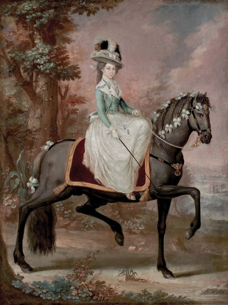 José Campeche (1751–1809), Dama a caballo (Lady on a Horse), 1785