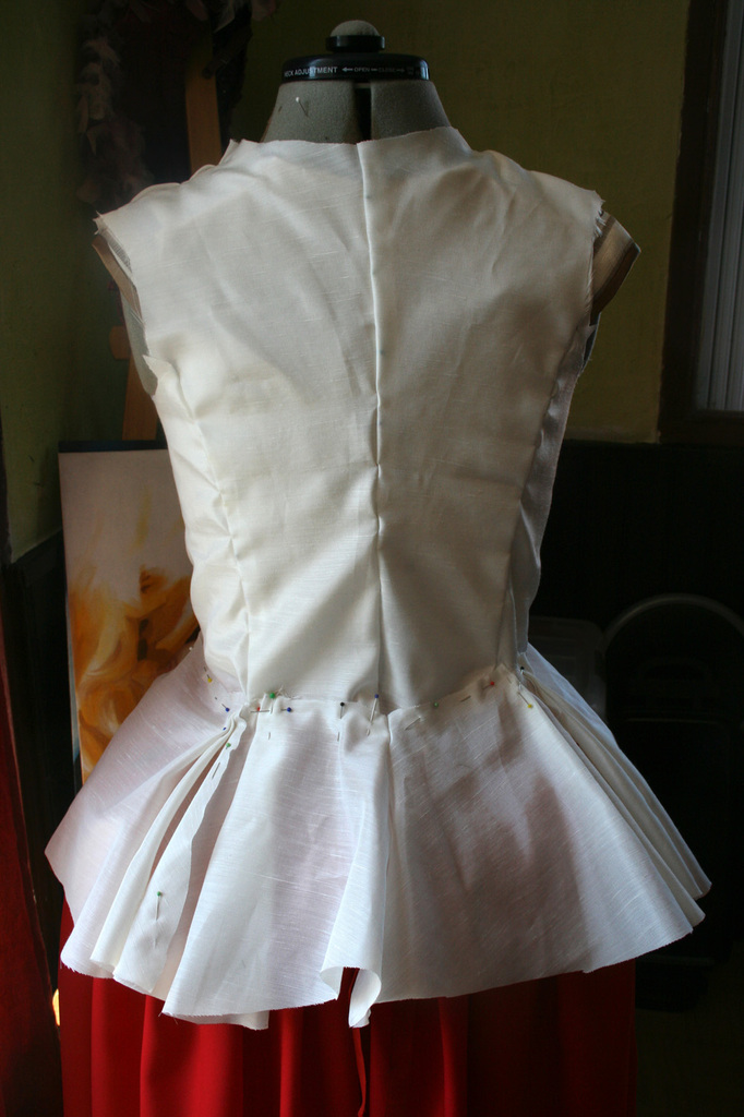 Le projet Riding habit, Lady Worsley :la toile de la veste